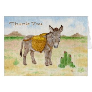El Burro con la cesta le agradece notecard Tarjeta Pequeña