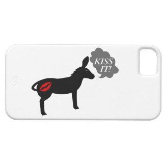 El burro dice beso él con los labios de Kissy iPhone 5 Carcasa
