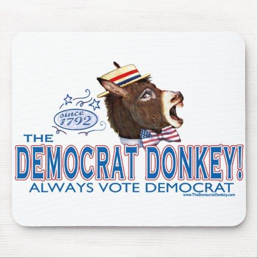 El burro Mousepad de Demócrata