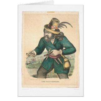 El buscador del oro (0638A) Tarjeta De Felicitación