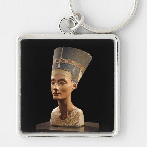 El busto de la reina Nefertiti Llavero