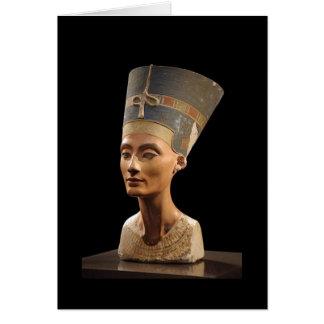 El busto de la reina Nefertiti Tarjeta De Felicitación