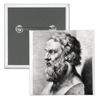 El busto de Platón grabó por Lucas Emilio Pins