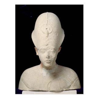 El busto de rey Amenophis IV de dice EL-Amarna Postal
