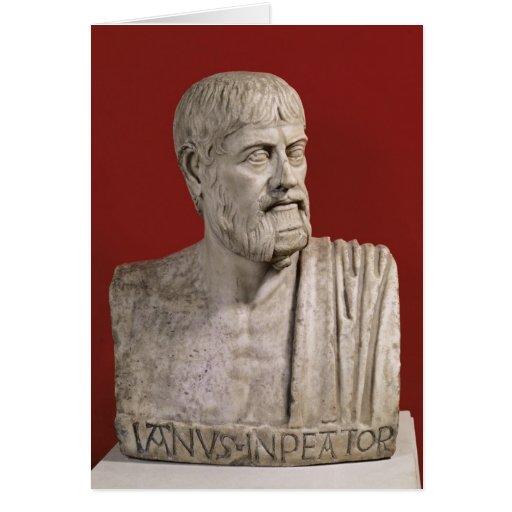 El busto supuso ser Flavius Claudius Julianus Tarjeta De Felicitación