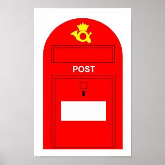 El buzón de correos rojo poster