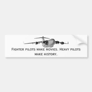 El C17, pilotos de caza hace películas. Pilotos pe Pegatina De Parachoque