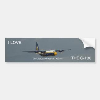"""El C-130 """"Albert gordo"""" de los ángeles azules. Pegatina Para Auto"""