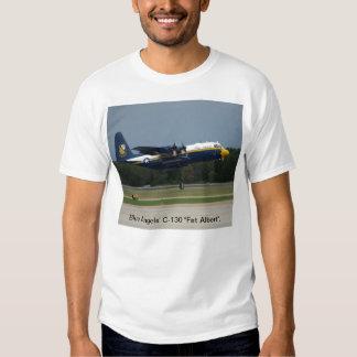 """El C-130 """"Albert gordo"""" de los ángeles azules. Polera"""