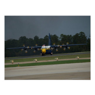 """El C-130 """"Albert gordo"""" de los ángeles azules. Póster"""