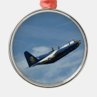 """El C-130 Hércules """"Albert gordo"""" de los ángeles Adorno Navideño Redondo De Metal"""
