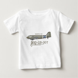 El C-47 SKYTRAIN de DAKOTA - ARRÁSTRELOS OOT Playera De Bebé