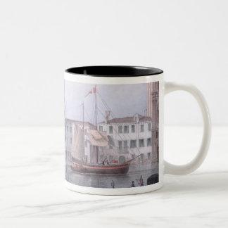 El Ca Foscari, Venecia, grabada por Brizeghel (li Tazas De Café
