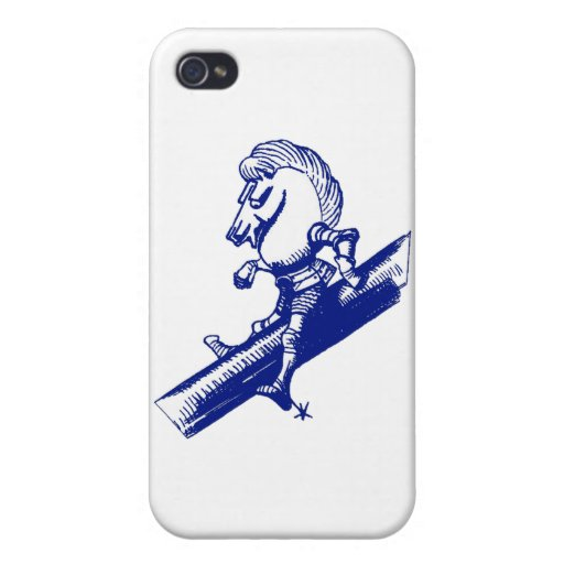 El caballero blanco iPhone 4 carcasas
