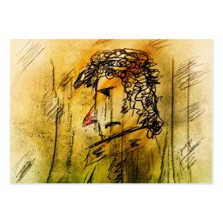 El caballero con la nariz roja tarjetas de visita grandes