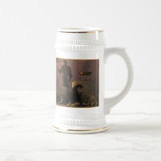 El caballero de bronce de la isla de leones tazas de café