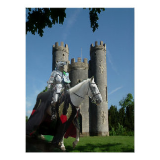 El caballero del castillo de Blaise Póster