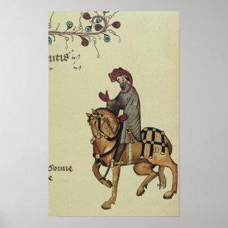 El caballero, detalle del facsímil de póster