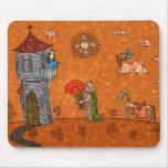 El caballero y la señora tapete de ratones