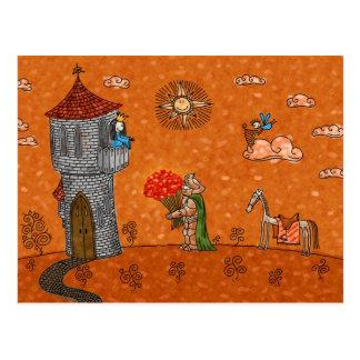 El caballero y la señora postales