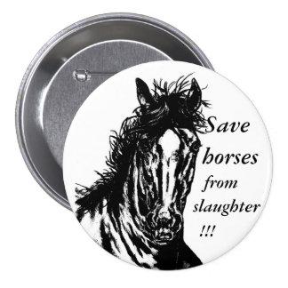 El caballo 1 - ahorre los caballos del botón 3 de pin redondo de 3 pulgadas