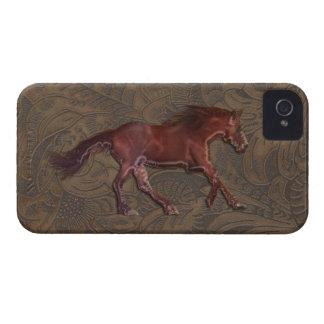 El Caballo-amante salvaje equipó la caja del iPhone 4 Case-Mate Funda