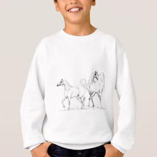 El caballo árabe embroma la camiseta playera