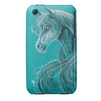 El caballo árabe pensativo Case-Mate iPhone 3 protector