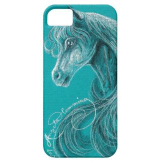 El caballo árabe pensativo iPhone 5 carcasas