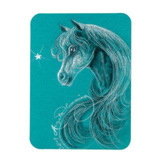 El caballo árabe pensativo imanes
