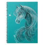 El caballo árabe pensativo libreta