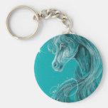 El caballo árabe pensativo llavero redondo tipo pin