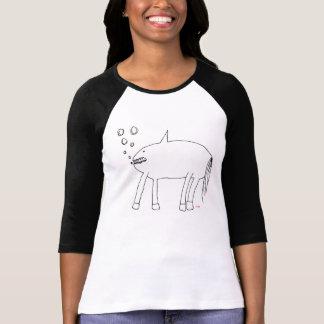 El caballo asustadizo hambriento del tiburón de camisetas