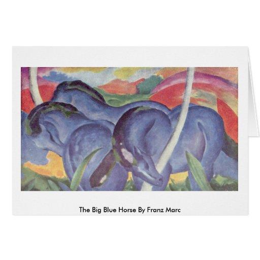 El caballo azul grande de Franz Marc Tarjeta De Felicitación
