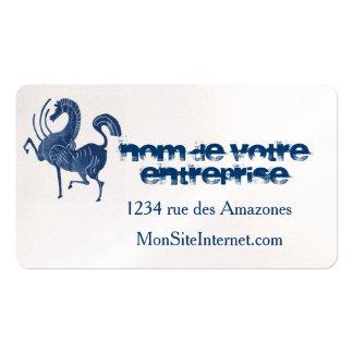 El caballo azul tarjetas de visita
