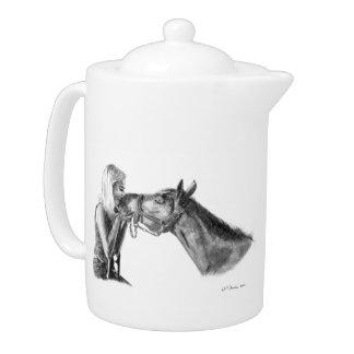 El caballo besa las ilustraciones