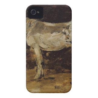 El caballo blanco de Eugene Boudin iPhone 4 Carcasas