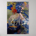 El caballo blanco de Eugène Enrique Paul Gauguin Posters
