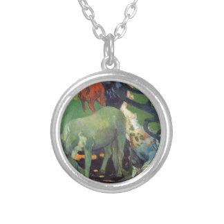 El caballo blanco de Paul Gauguin Colgante Redondo
