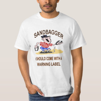 El caballo calza la camiseta del valor del Sandbag Playeras