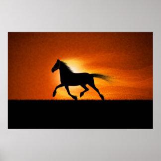 El caballo corriente póster