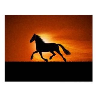 El caballo corriente tarjetas postales