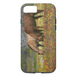 El caballo cuarto en el campo de wildflowers funda iPhone 7