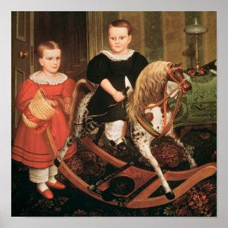 El caballo de la afición, c.1840 póster