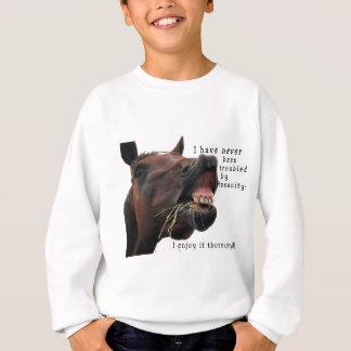 El caballo de la locura me nunca he preocupado sudadera