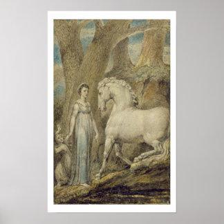 """El caballo, de las """"baladas de Guillermo Hayley"""",  Póster"""