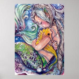 El caballo de mar abraza el poster