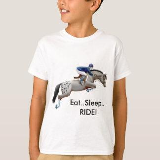 El caballo del Appaloosa come la camiseta de los Remera