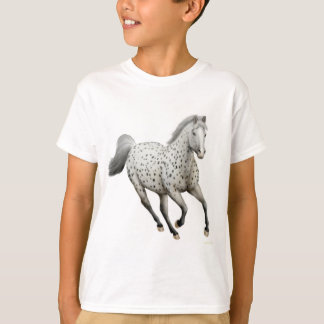 El caballo del Appaloosa del leopardo embroma la Playera