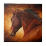 El caballo del fuego teja  ceramica